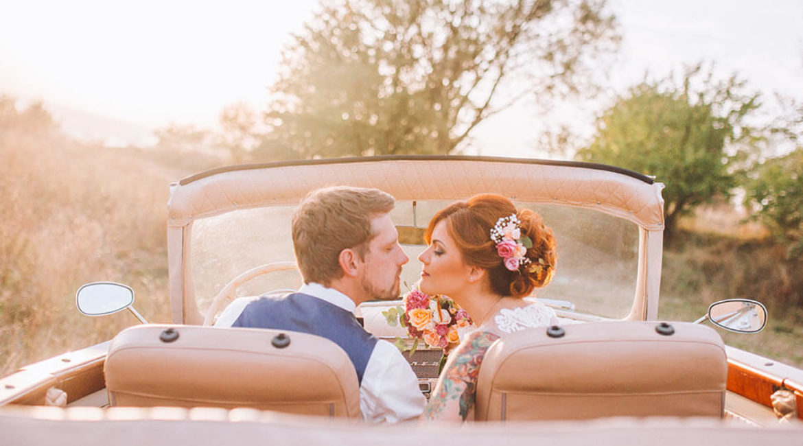 Honeymoon trip for two in your retro car
